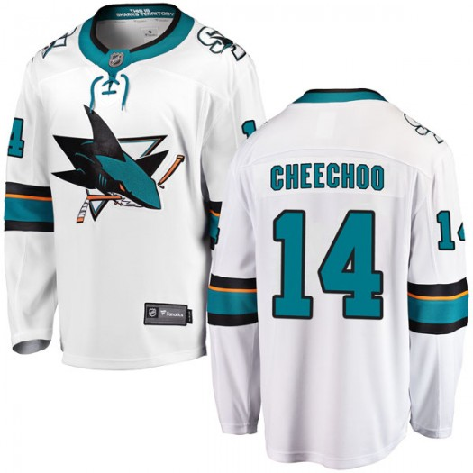 Jonathan Cheechoo San Jose Sharks Men's Fanatics Branded White Breakaway Away Jersey