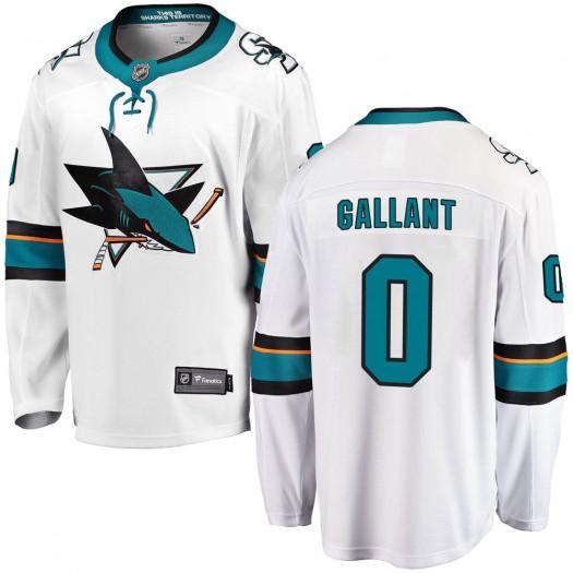 Zachary Gallant San Jose Sharks Men's Fanatics Branded White Breakaway Away Jersey
