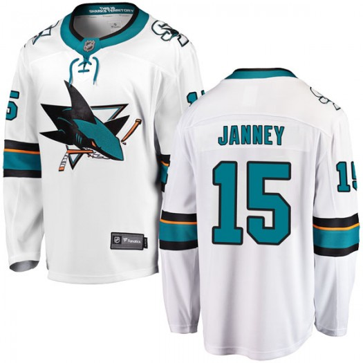 Craig Janney San Jose Sharks Men's Fanatics Branded White Breakaway Away Jersey