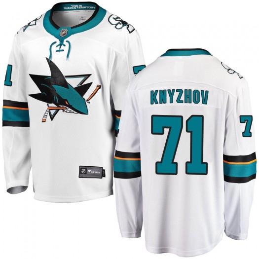 Nikolai Knyzhov San Jose Sharks Men's Fanatics Branded White ized Breakaway Away Jersey