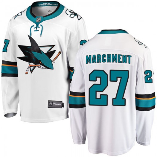 Bryan Marchment San Jose Sharks Men's Fanatics Branded White Breakaway Away Jersey