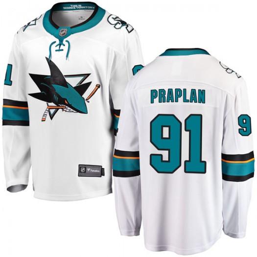 Vincent Praplan San Jose Sharks Men's Fanatics Branded White Breakaway Away Jersey