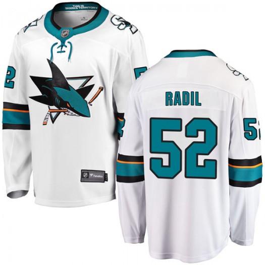 Lukas Radil San Jose Sharks Men's Fanatics Branded White Breakaway Away Jersey