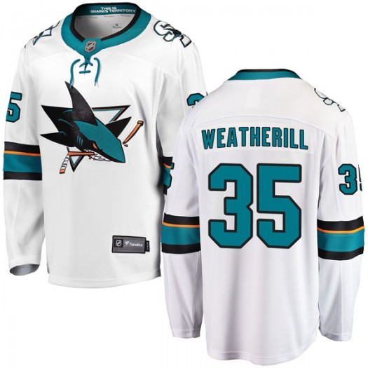 Dawson Weatherill San Jose Sharks Men's Fanatics Branded White Breakaway Away Jersey