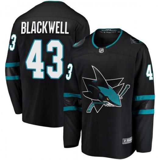 Colin Blackwell San Jose Sharks Youth Fanatics Branded Black Breakaway Alternate Jersey