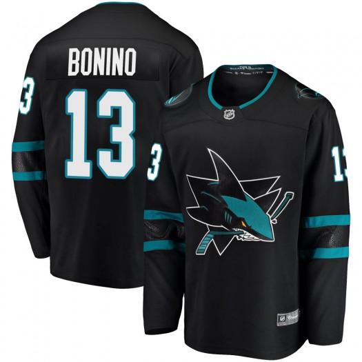 Nick Bonino San Jose Sharks Youth Fanatics Branded Black Breakaway Alternate Jersey