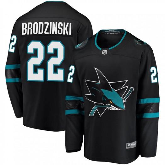 Jonny Brodzinski San Jose Sharks Youth Fanatics Branded Black Breakaway Alternate Jersey