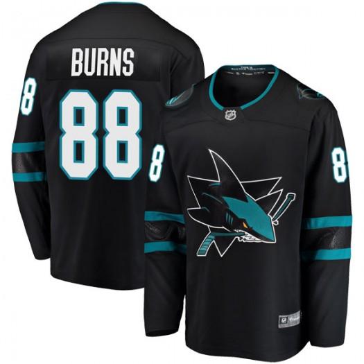 Brent Burns San Jose Sharks Youth Fanatics Branded Black Breakaway Alternate Jersey