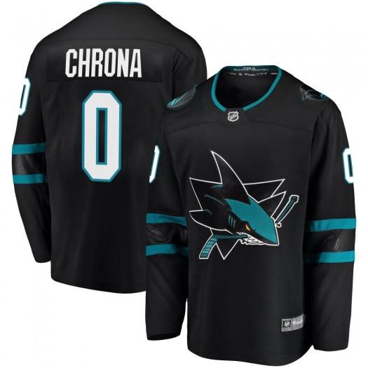 Magnus Chrona San Jose Sharks Youth Fanatics Branded Black Breakaway Alternate Jersey