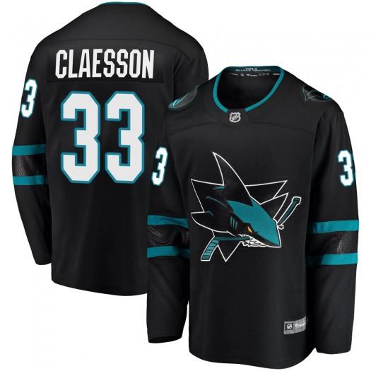 Fredrik Claesson San Jose Sharks Youth Fanatics Branded Black Breakaway Alternate Jersey