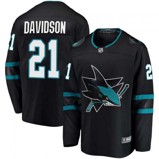 Brandon Davidson San Jose Sharks Youth Fanatics Branded Black ized Breakaway Alternate Jersey