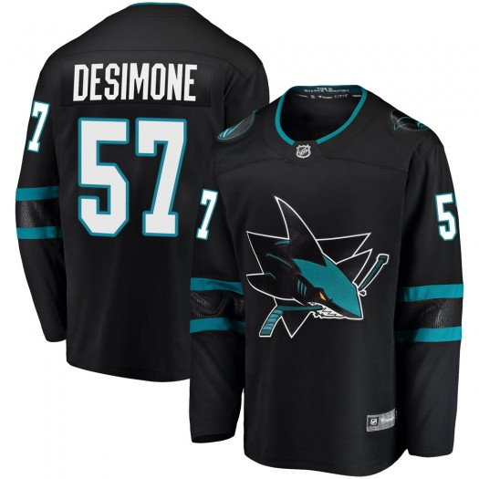 Nick DeSimone San Jose Sharks Youth Fanatics Branded Black Breakaway Alternate Jersey