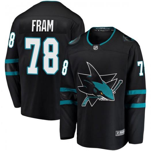 Jason Fram San Jose Sharks Youth Fanatics Branded Black Breakaway Alternate Jersey