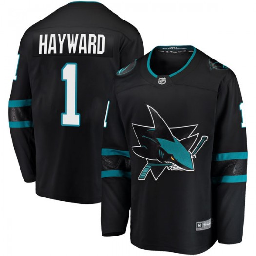 Brian Hayward San Jose Sharks Youth Fanatics Branded Black Breakaway Alternate Jersey