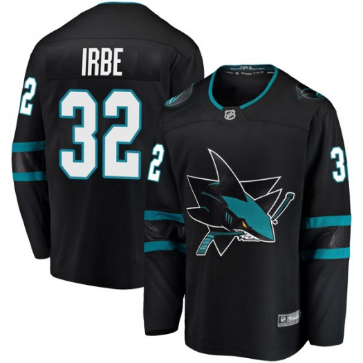 Arturs Irbe San Jose Sharks Youth Fanatics Branded Black Breakaway Alternate Jersey