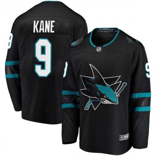 Evander Kane San Jose Sharks Youth Fanatics Branded Black Breakaway Alternate Jersey