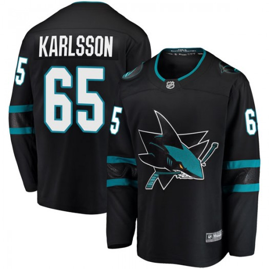 Erik Karlsson San Jose Sharks Youth Fanatics Branded Black Breakaway Alternate Jersey