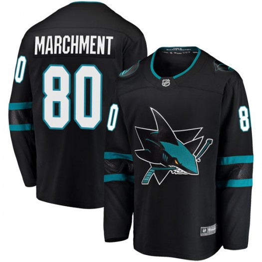Jake Marchment San Jose Sharks Youth Fanatics Branded Black Breakaway Alternate Jersey