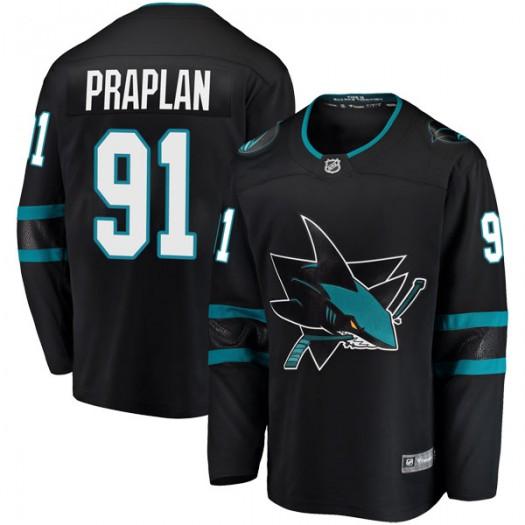Vincent Praplan San Jose Sharks Youth Fanatics Branded Black Breakaway Alternate Jersey