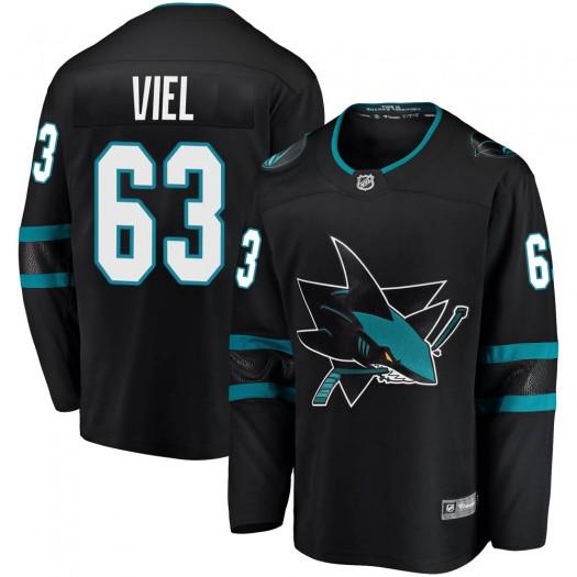 Jeffrey Viel San Jose Sharks Youth Fanatics Branded Black Breakaway Alternate Jersey