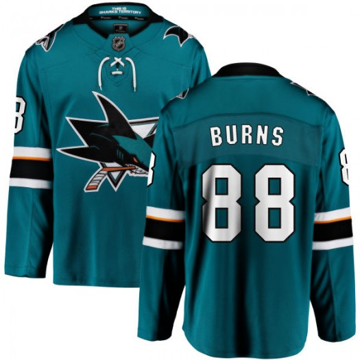 Brent Burns San Jose Sharks Youth Fanatics Branded Teal Home Breakaway Jersey
