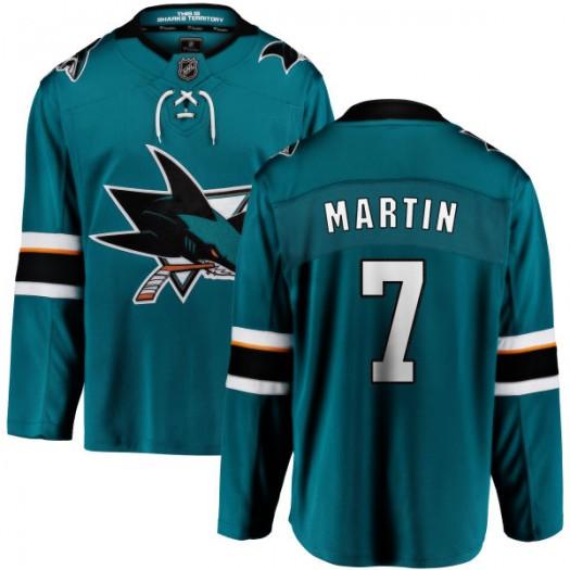 Paul Martin San Jose Sharks Men's Fanatics Branded Teal Home Breakaway Jersey