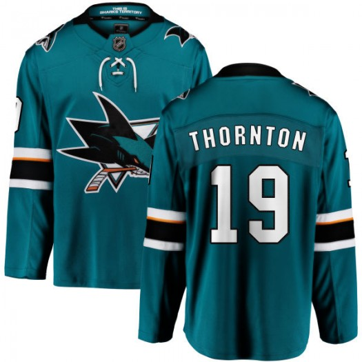Joe Thornton San Jose Sharks Youth Fanatics Branded Teal Home Breakaway Jersey