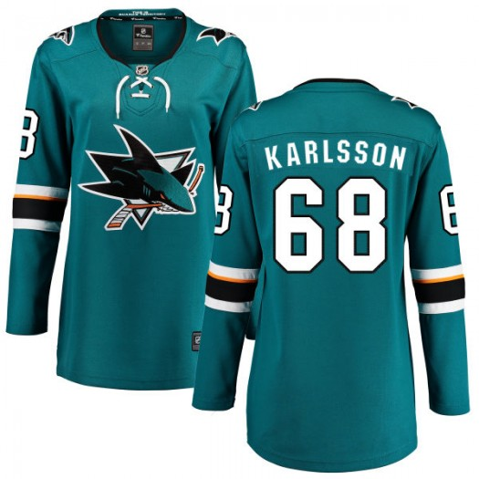 Melker Karlsson San Jose Sharks Women's Fanatics Branded Teal Home Breakaway Jersey