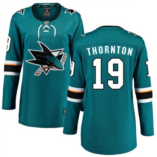 Joe Thornton San Jose Sharks Women's Fanatics Branded Teal Home Breakaway Jersey