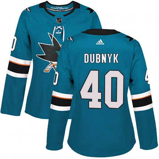 Devan Dubnyk San Jose Sharks Women's Adidas Authentic Teal Home Jersey