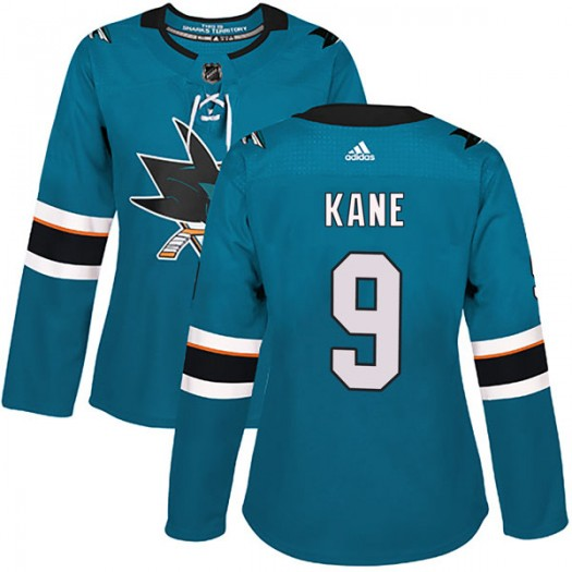 Evander Kane San Jose Sharks Women's Adidas Authentic Teal Home Jersey