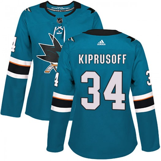 Miikka Kiprusoff San Jose Sharks Women's Adidas Authentic Teal Home Jersey