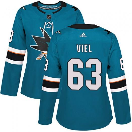 Jeffrey Viel San Jose Sharks Women's Adidas Authentic Teal Home Jersey