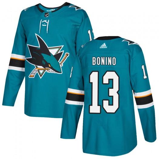 Nick Bonino San Jose Sharks Youth Adidas Authentic Teal Home Jersey