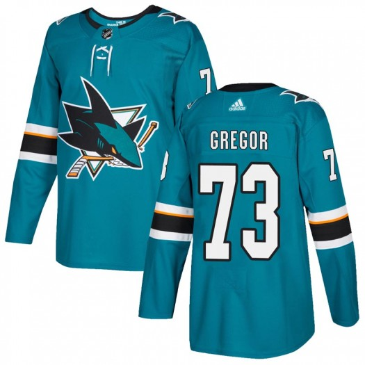 Noah Gregor San Jose Sharks Youth Adidas Authentic Teal Home Jersey