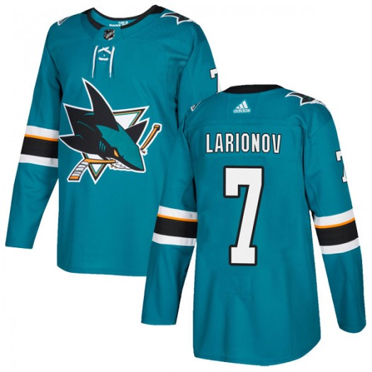 Igor Larionov San Jose Sharks Youth Adidas Authentic Teal Home Jersey