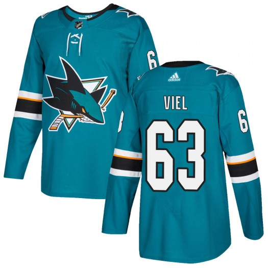 Jeffrey Viel San Jose Sharks Youth Adidas Authentic Teal Home Jersey
