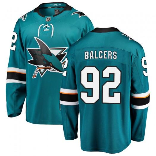 Rudolfs Balcers San Jose Sharks Men's Fanatics Branded Teal Breakaway Home Jersey