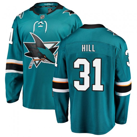 Adin Hill San Jose Sharks Men's Fanatics Branded Teal Breakaway Home Jersey
