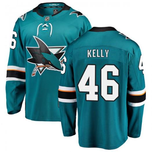 Dan Kelly San Jose Sharks Men's Fanatics Branded Teal Breakaway Home Jersey