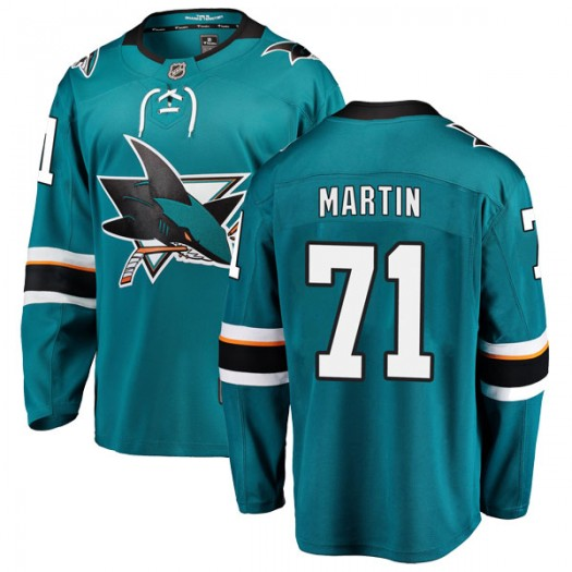Jonathon Martin San Jose Sharks Men's Fanatics Branded Teal Breakaway Home Jersey