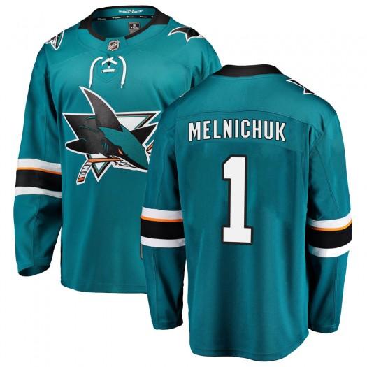 Alexei Melnichuk San Jose Sharks Men's Fanatics Branded Teal Breakaway Home Jersey