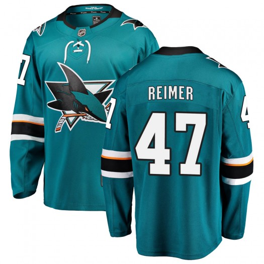 James Reimer San Jose Sharks Men's Fanatics Branded Teal Breakaway Home Jersey