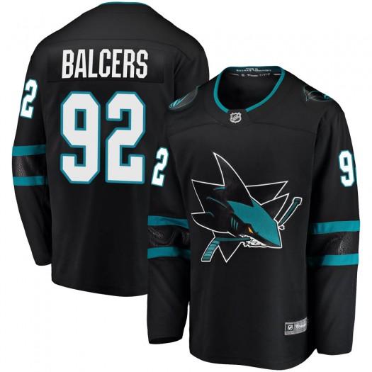 Rudolfs Balcers San Jose Sharks Men's Fanatics Branded Black Breakaway Alternate Jersey