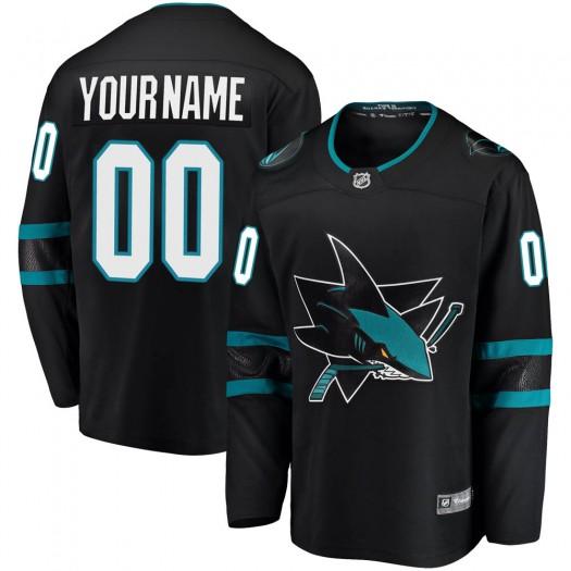Men's Fanatics Branded San Jose Sharks Customized Breakaway Black Alternate Jersey