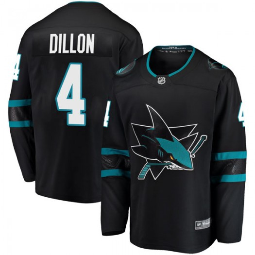 Brenden Dillon San Jose Sharks Men's Fanatics Branded Black Breakaway Alternate Jersey