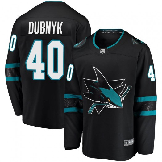 Devan Dubnyk San Jose Sharks Men's Fanatics Branded Black Breakaway Alternate Jersey