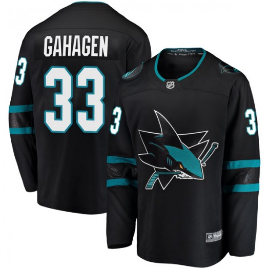 Parker Gahagen San Jose Sharks Men's Fanatics Branded Black Breakaway Alternate Jersey