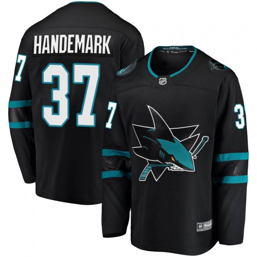 Fredrik Handemark San Jose Sharks Men's Fanatics Branded Black Breakaway Alternate Jersey