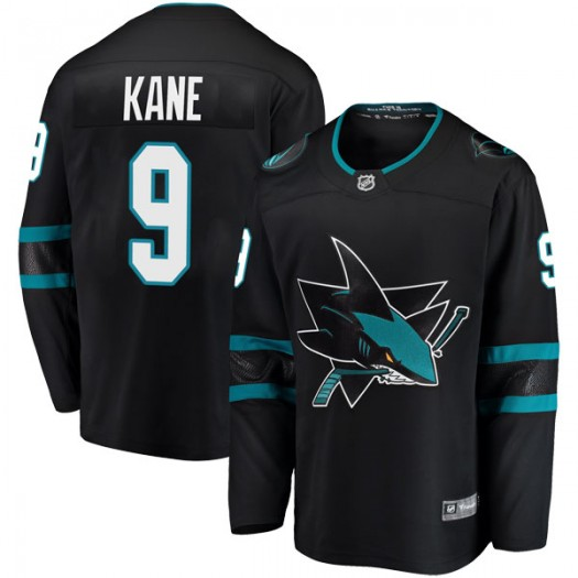 Evander Kane San Jose Sharks Men's Fanatics Branded Black Breakaway Alternate Jersey